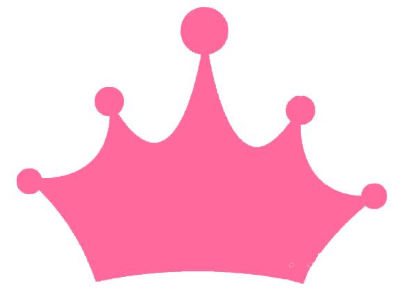 Corona rosada para princesa