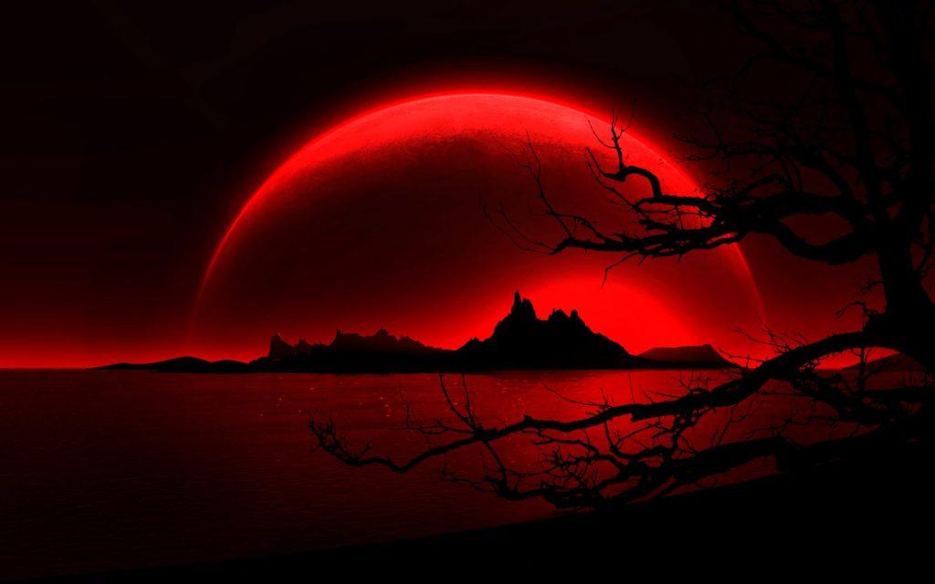 fondos de pantalla rojos y negro