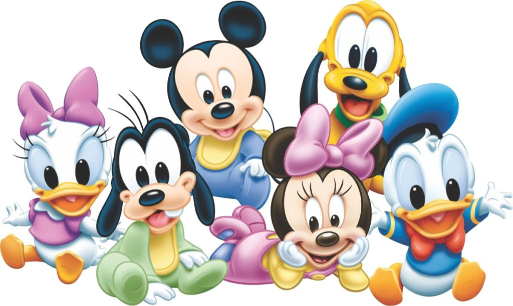 dibujos de mickey mouse bebe para imprimir