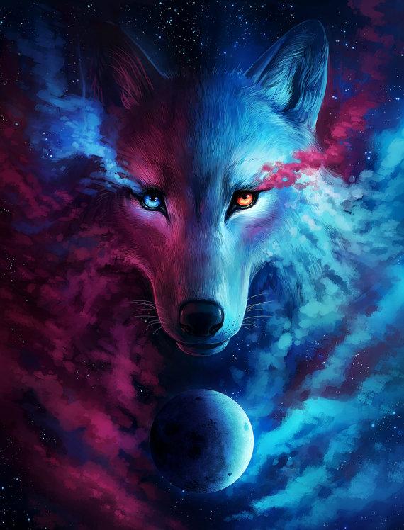 imagenes de lobos de agua y fuego