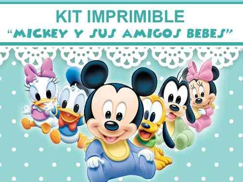 imagenes de mickey mouse bebe y sus amigos