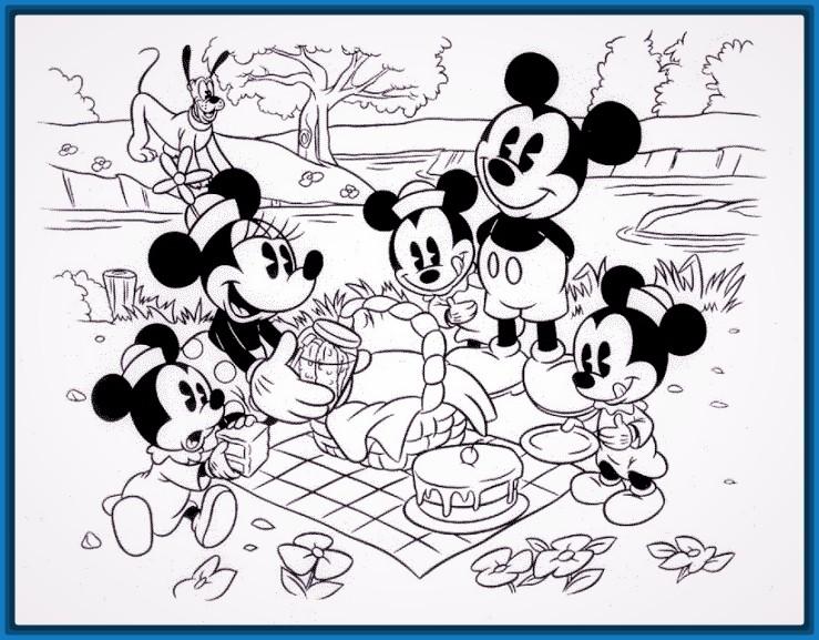 imagenes de mickey mouse para imprimir y pintar