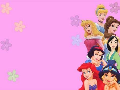 Tarjeta de cumpleaños princesas