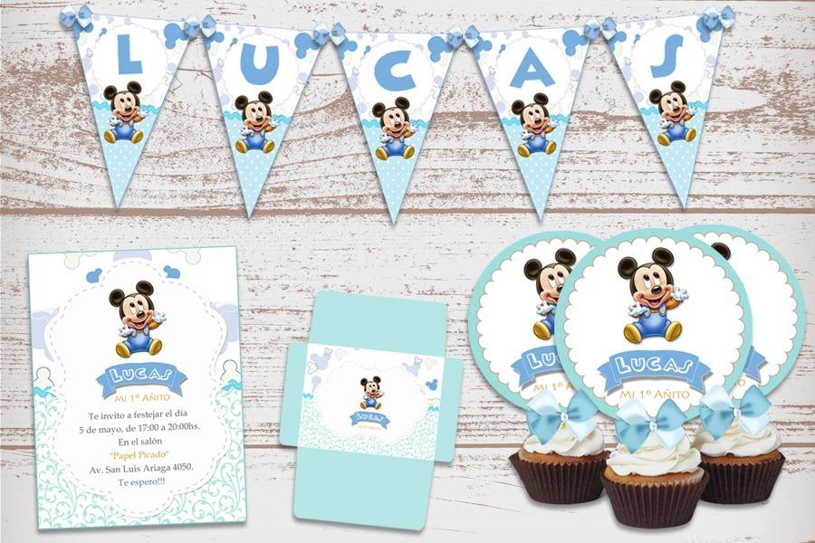 mickey mouse bebe cumpleaños decoracion