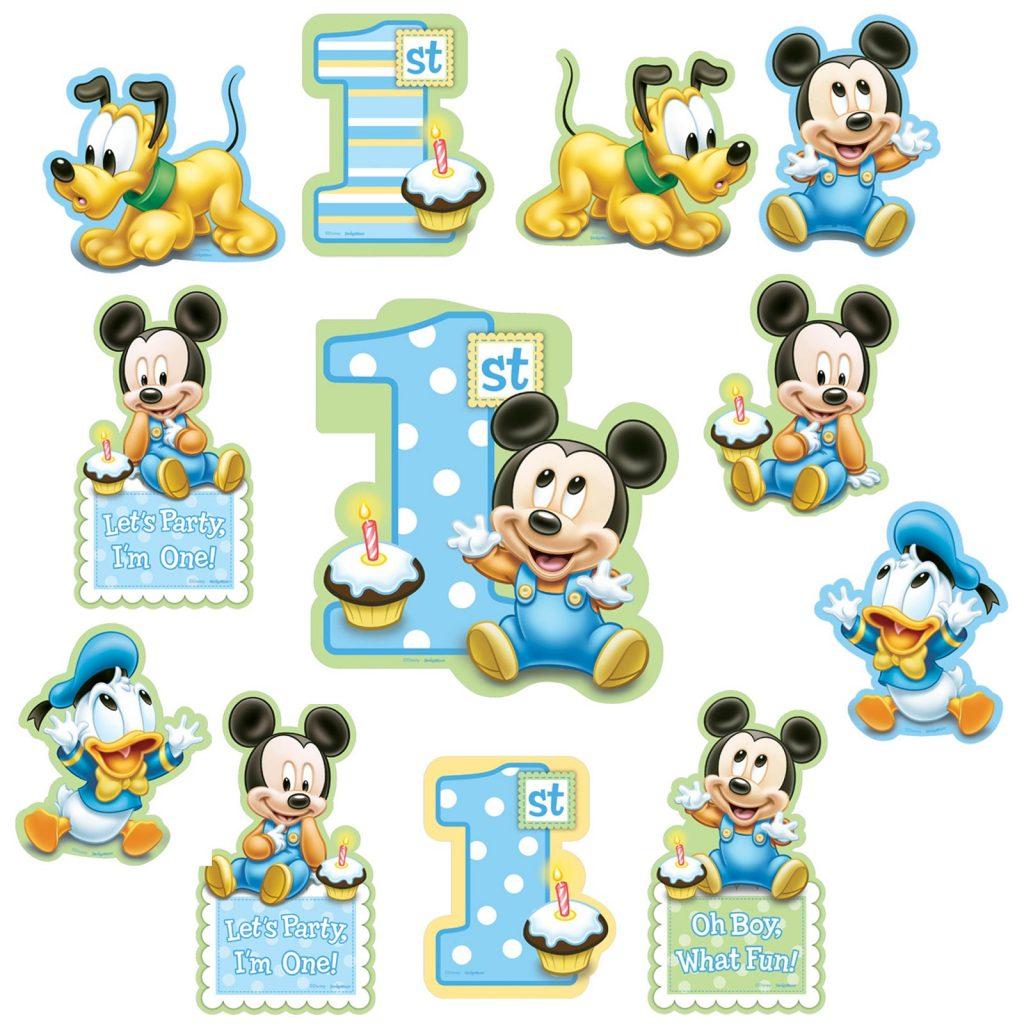 mickey mouse bebe tarjetas de cumpleaños