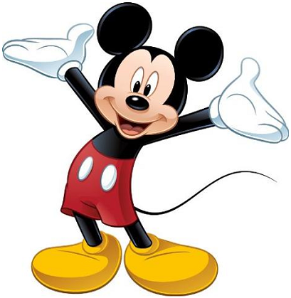 mickey mouse png silueta