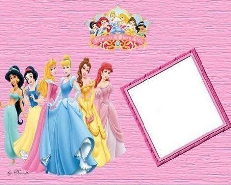 montajes para fotos de princesas disney
