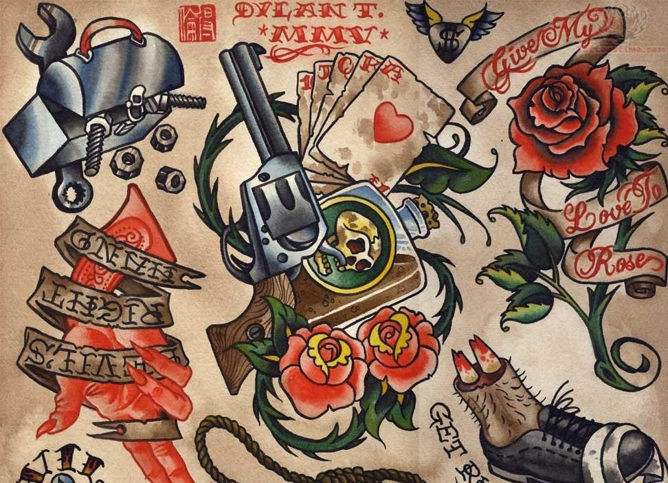 Wallpaper tattoo old school