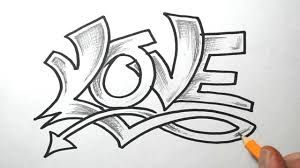 Love graffitis a lapiz