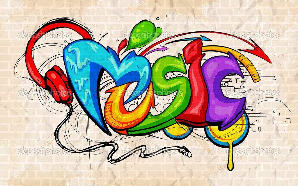 fondo de graffitis