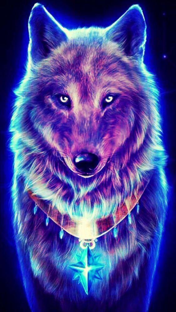 Fondo de lobo morado
