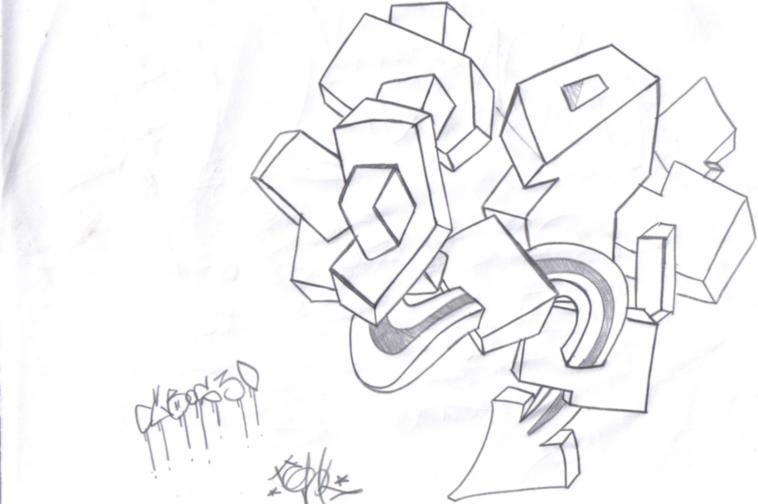 Fondos para graffitis a lápiz