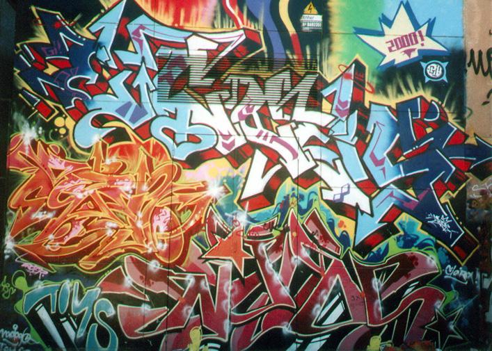 Fondos de graffitiscon nombres