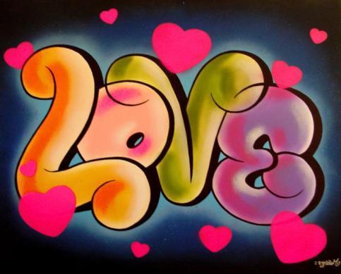 frases de amor y amistad en graffitis