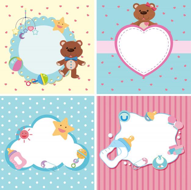 plantillas editables psd para fotomontajes para bebes gratis