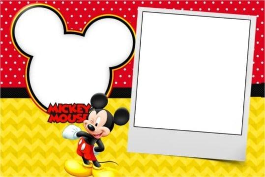 tarjetas de invitacion de cumpleaños de mickey mouse para editar