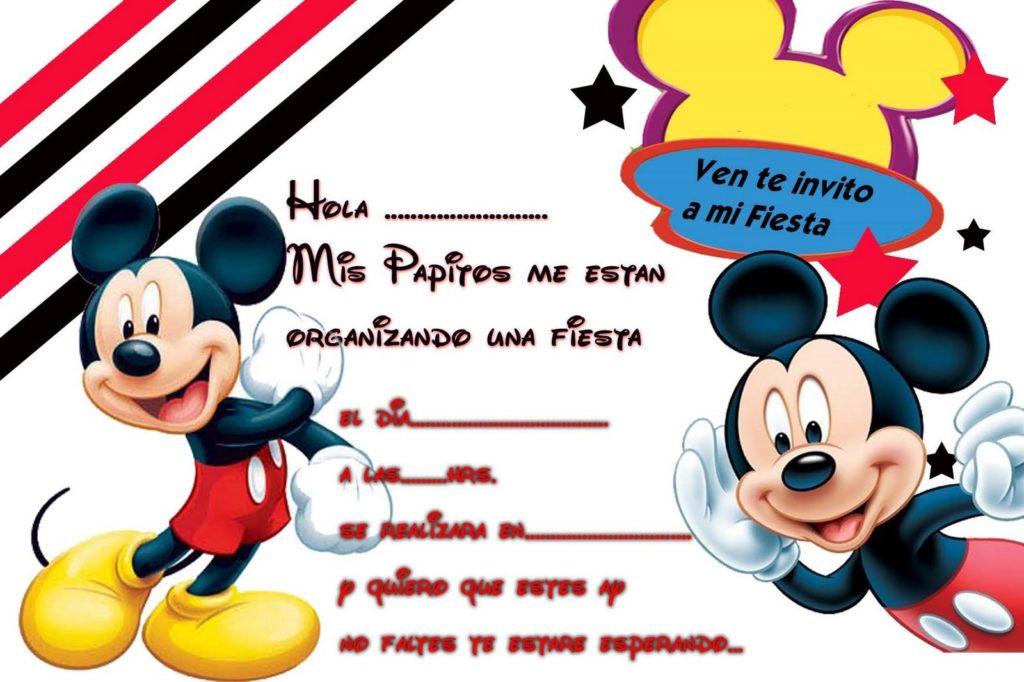 tarjetas navideñas de mickey mouse + para imprimir
