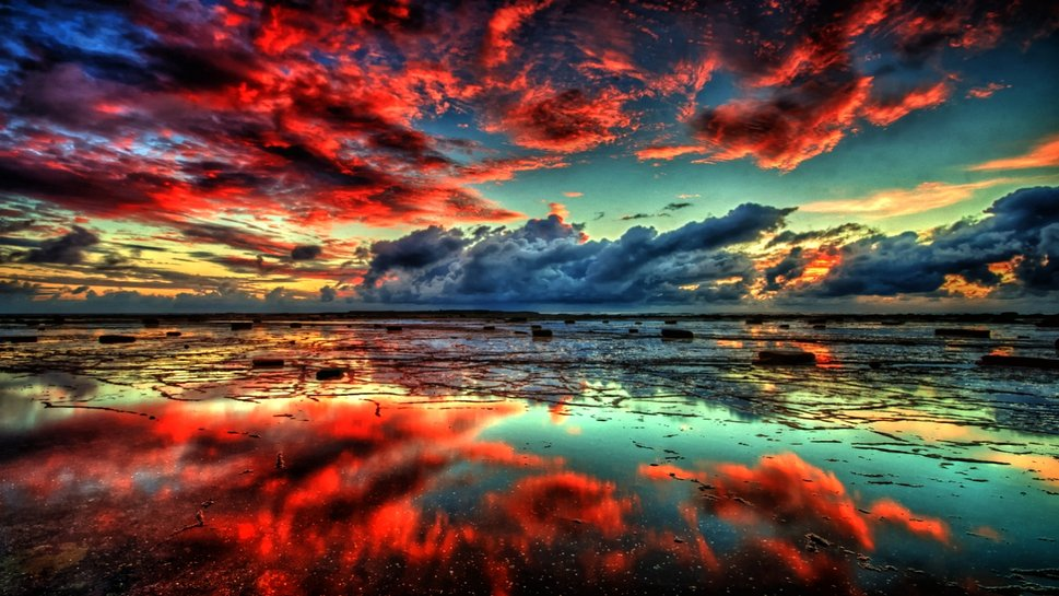 Wallpaper cielo rojo