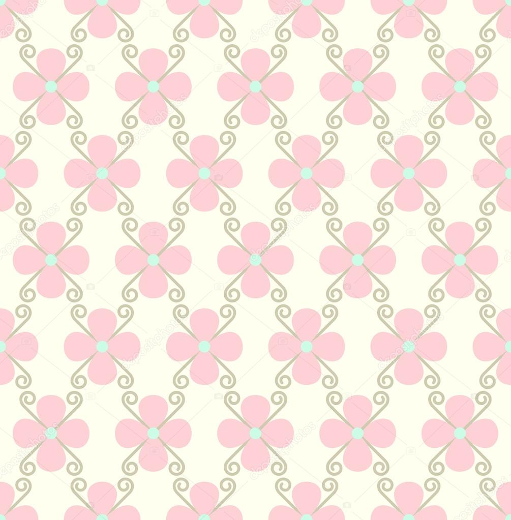 wallpaper rosa pastel vintage