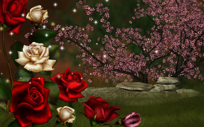 Wallpapers de rosas 3D