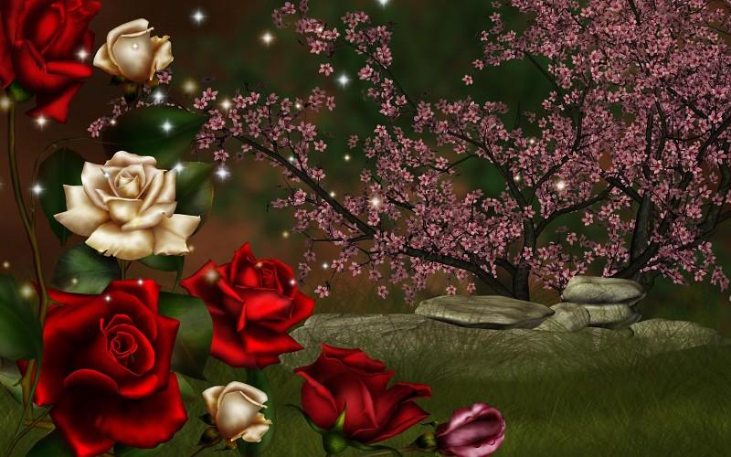 Wallpapers de rosas 3D