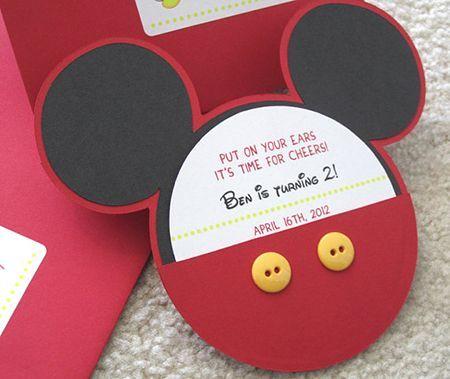 tarjetas de invitacion de mickey mouse hechas a mano