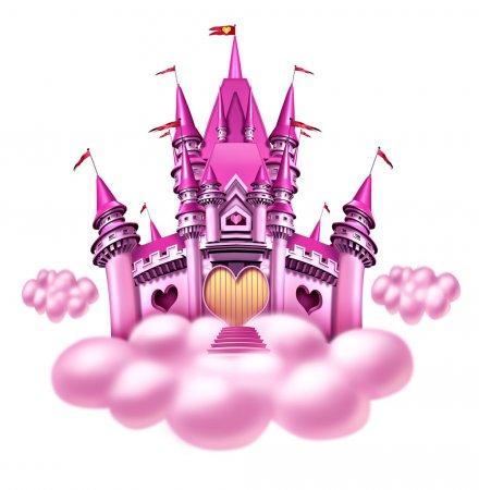 Castillo rosado de princesas