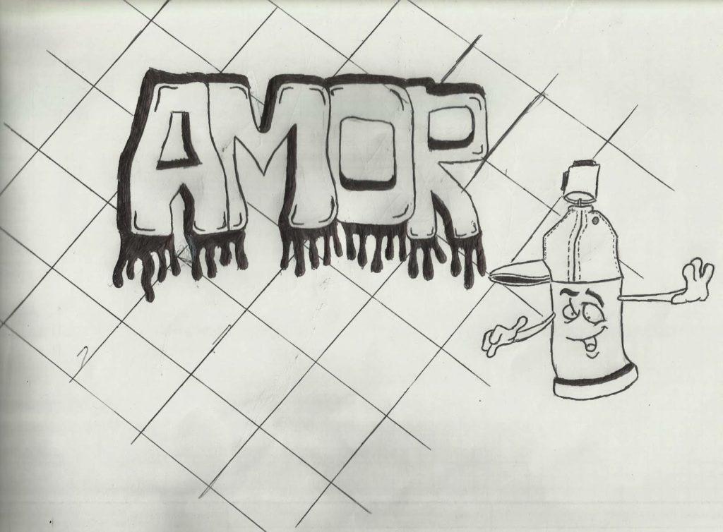 graffitis de amor a lapiz 3d