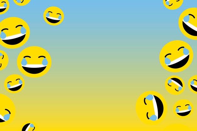 Emoji de risa flotante