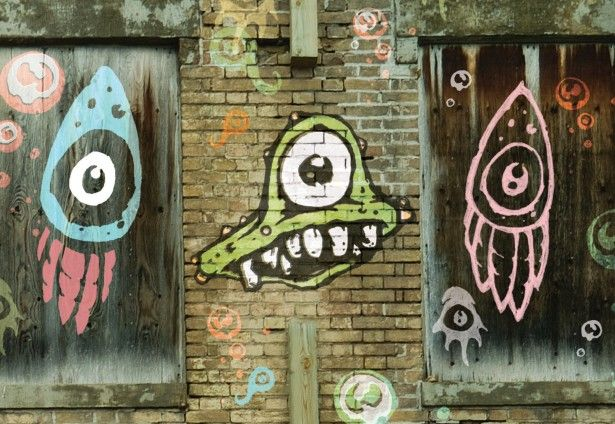Fondos de graffitis para photoshop