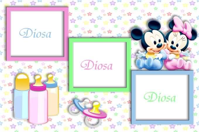 fondos para caritas de bebes disney