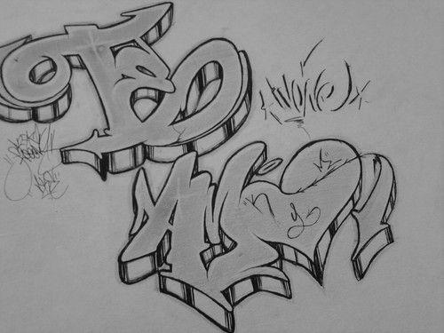 graffitis de amor faciles de dibujar