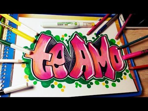 graffitis de te amo a lapiz faciles