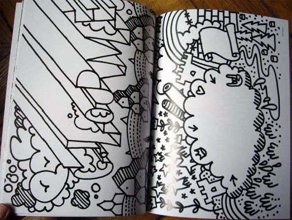 cuaderno con Graffitis