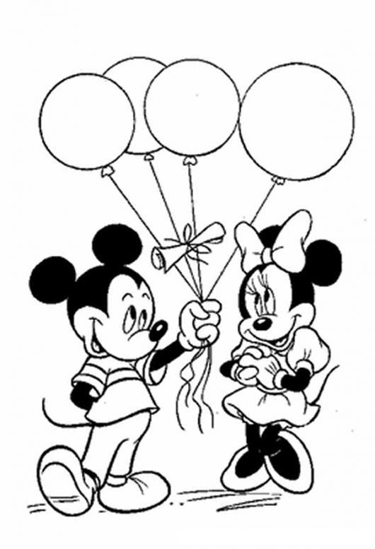 imagenes de mickey mouse y mimi para dibujar