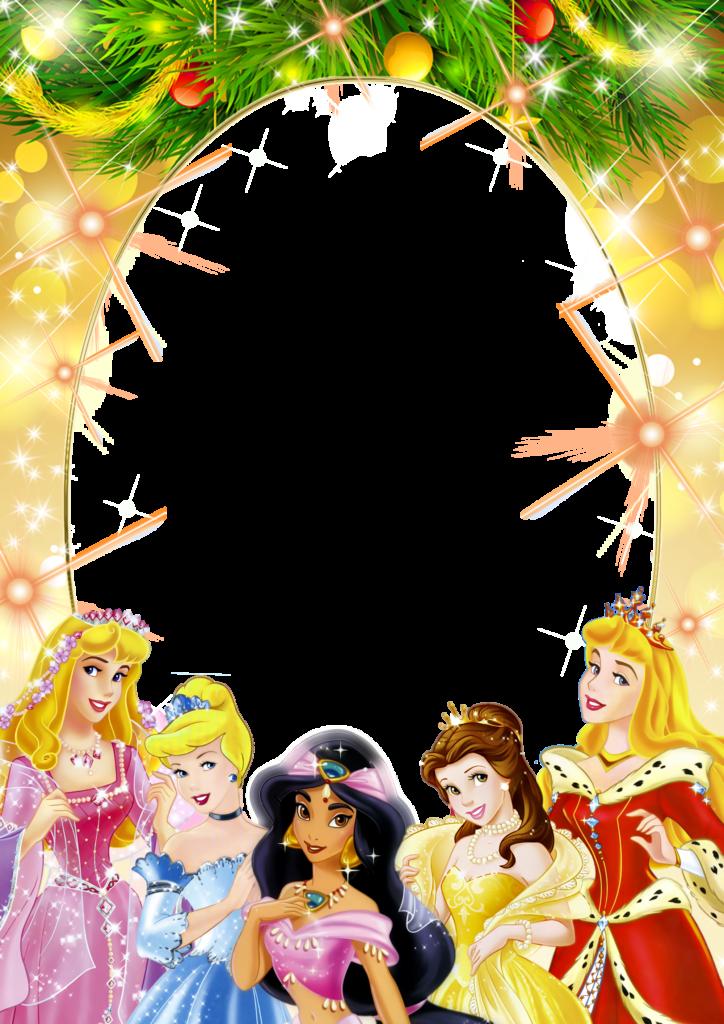 marcos para fotos de princesas en png