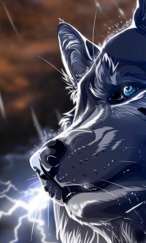 Fondo en 3D de un lobo