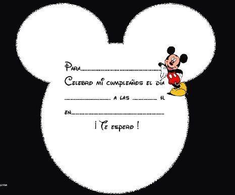 tarjetas de invitacion mickey mouse para imprimir gratis