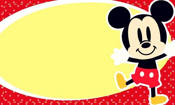 tarjetas de mickey mouse bebe para editar