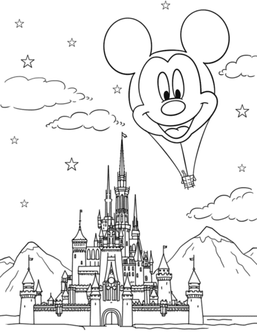 Castillo para dibujar Disney