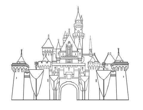 Disney Castillo para pintar