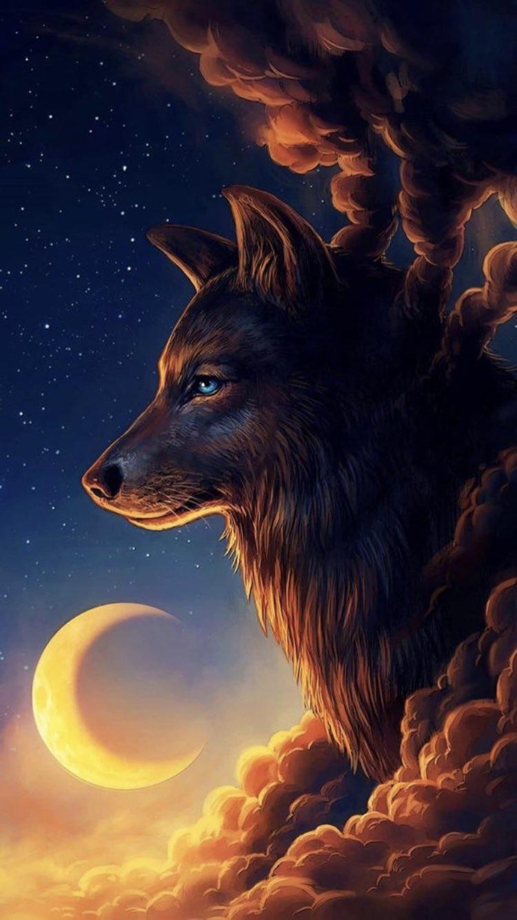 100 fondos de lobos animados fondos de pantalla for Wallpaper hd celular