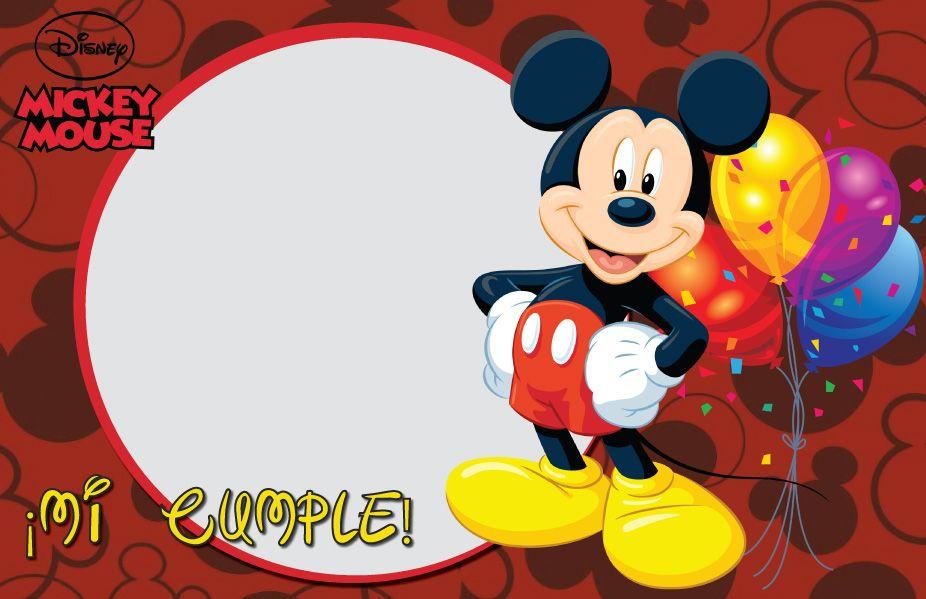 Tarjeta de fondo de mickey mouse para cumpleaños