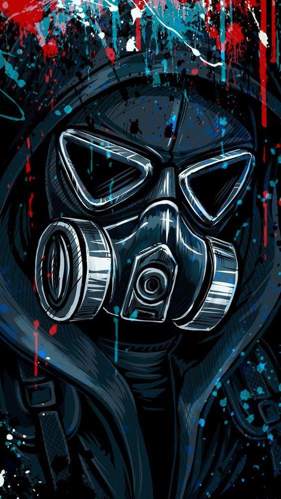 Imagen oscura de mascara Grafitera