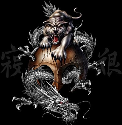 Wallpaper tattoo dragon