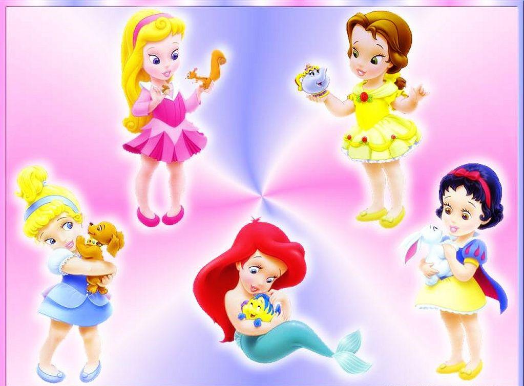 Hermosas princesas de Disney en bebé