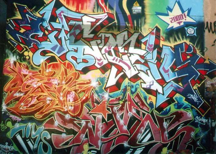 Fondos graffitis hip hop