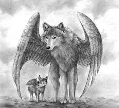 imagenes de lobos de fuego para dibujar