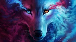 lobo con colores RGB
