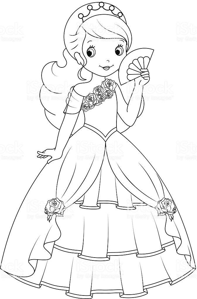 Hermosa princesa para colorear